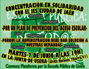 concentracion JMU solidaridad IES Ciudad de Jaén