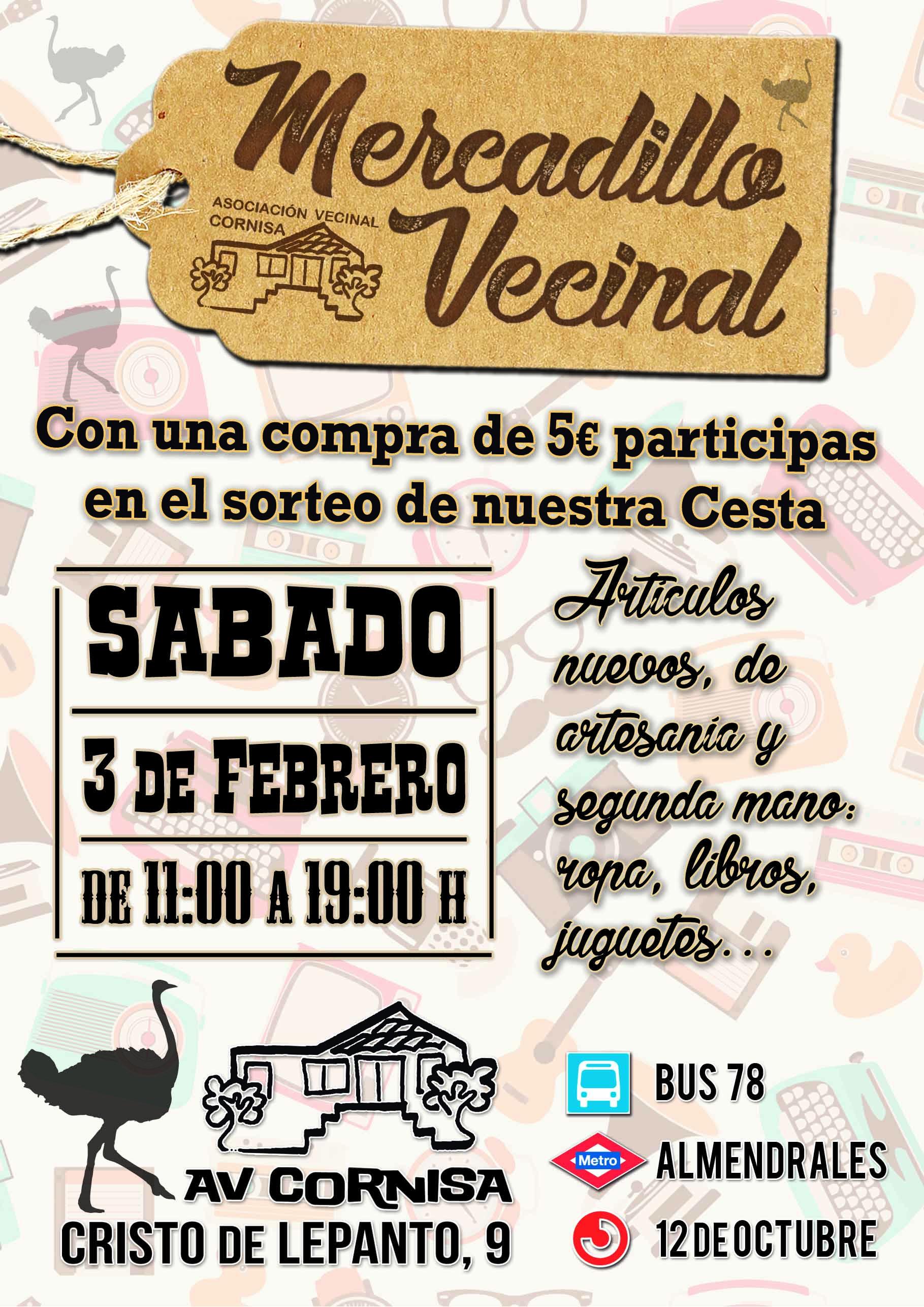 Mercadillo Vecinal Asociaci N Vecinal Cornisa ~ Mercadillo De Segunda Mano Madrid