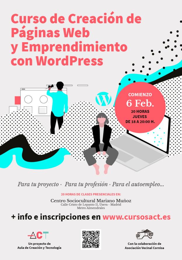 Curso de Creación de Páginas Web y Emprendimiento en Usera